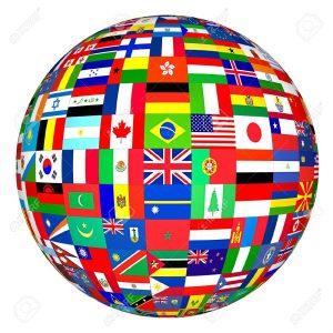 450263-Drapeaux-Globe--Banque-d'images